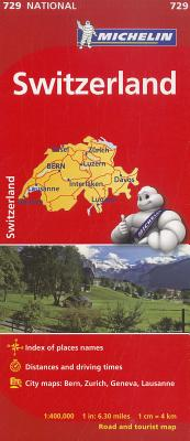 Michelin Map 729 Switzlerland By Michelin Travel & Lifestyle (COR)
